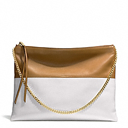 COACH F30374 The Two Tone Large Highrise GOLD/CAMEL/WHITE