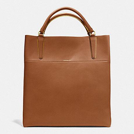 26056e0fec36 ... hot coach f30380 the retro glove tan leather town tote gold walnut  sunglow 2471a cc0d4