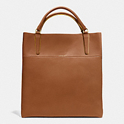 COACH F30380 - THE RETRO GLOVE TAN LEATHER TOWN TOTE GOLD/WALNUT/SUNGLOW
