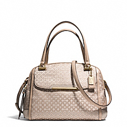 COACH F30406 - MADISON  OP ART PEARLESCENT SMALL GEORGIE SATCHEL LIGHT GOLD/KHAKI