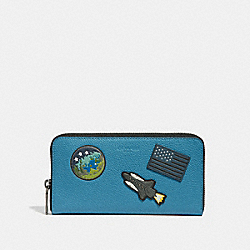 ACCORDION WALLET WITH SPACE PATCHES - f30422 - River