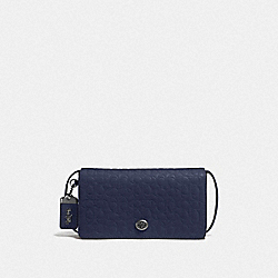 COACH F30427 - DINKY IN SIGNATURE LEATHER BP/MIDNIGHT NAVY