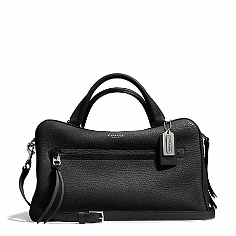 COACH F30444 BLEECKER PEBBLE LEATHER TOASTER SATCHEL SILVER/BLACK
