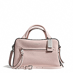 BLEECKER PEBBLE LEATHER SMALL TOASTER SATCHEL - f30446 - SILVER/NEUTRAL PINK