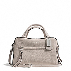 COACH F30446 Bleecker Pebbled Leather Small Toaster Satchel SILVER/ECRU