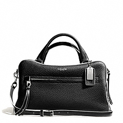 COACH F30447 - BLEECKER EDGEPAINT LEATHER TOASTER SATCHEL SILVER/BLACK/WHITE