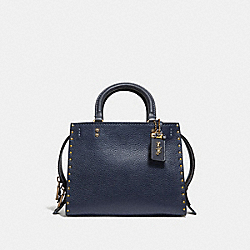 COACH F30456 - ROGUE 25 WITH RIVETS MIDNIGHT NAVY/BRASS