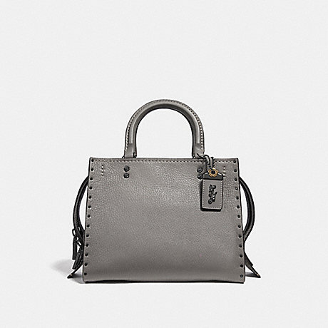 COACH F30456 ROGUE 25 WITH RIVETS BP/HEATHER-GREY