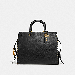 COACH F30457 - ROGUE WITH RIVETS BLACK/BRASS