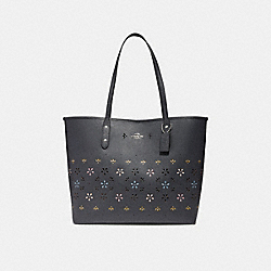 COACH F30459 City Tote SILVER/MIDNIGHT