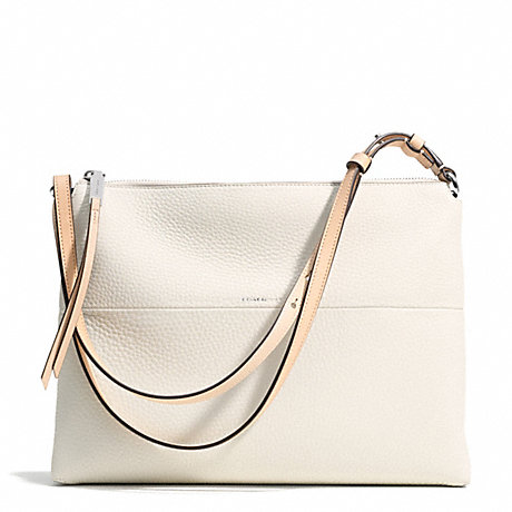 COACH f30472 THE PEBBLED LEATHER HIGHRISE UE/IVORY/VACHETTA