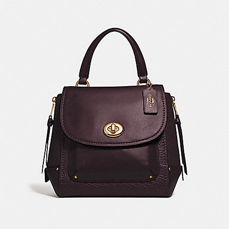 COACH F30525 FAYE BACKPACK OXBLOOD 1/LIGHT GOLD