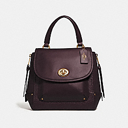 FAYE BACKPACK - F30525 - OXBLOOD 1/LIGHT GOLD