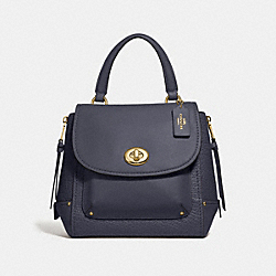 COACH F30525 Faye Backpack MIDNIGHT/LIGHT GOLD