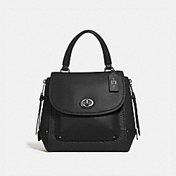 COACH F30525 Faye Backpack ANTIQUE NICKEL/BLACK
