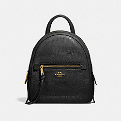 COACH F30530 Andi Backpack BLACK/LIGHT GOLD