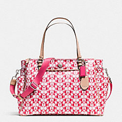 COACH F30541 Peyton Mulitifunction Tote In Dream C SILVER/WHITE POMEGRANATE/TAN
