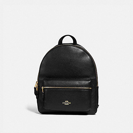 COACH f30550 MEDIUM CHARLIE BACKPACK BLACK/light gold