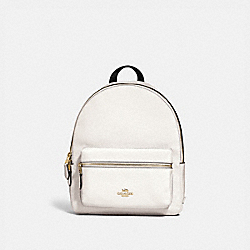 COACH MEDIUM CHARLIE BACKPACK - CHALK/LIGHT GOLD - F30550