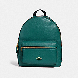 MEDIUM CHARLIE BACKPACK - F30550 - DARK TURQUOISE/LIGHT GOLD