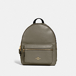 COACH F30550 Medium Charlie Backpack MILITARY GREEN/GOLD