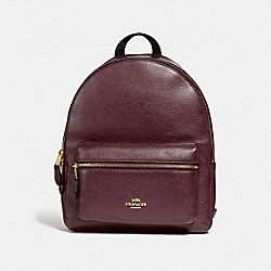 MEDIUM CHARLIE BACKPACK - F30550 - RASPBERRY/LIGHT GOLD