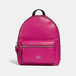 COACH F30550 Medium Charlie Backpack CERISE/SILVER