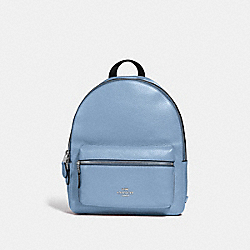 MEDIUM CHARLIE BACKPACK - F30550 - CORNFLOWER/SILVER