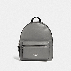 COACH F30550 Medium Charlie Backpack HEATHER GREY/SILVER
