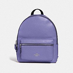 MEDIUM CHARLIE BACKPACK - F30550 - LIGHT PURPLE/SILVER