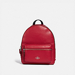 COACH F30550 - MEDIUM CHARLIE BACKPACK BRIGHT CARDINAL/SILVER