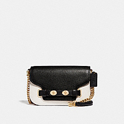 BLAKE CROSSBODY 20 IN COLORBLOCK - f30554 - CHALK/BLACK MULTI/light gold