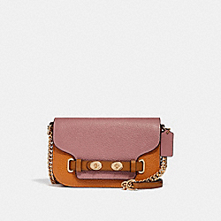 COACH F30554 Blake Crossbody 20 In Colorblock DUSTY ROSE/ORANGE MULTI /LIGHT GOLD