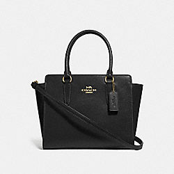 LEAH SATCHEL - F30555 - BLACK/IMITATION GOLD