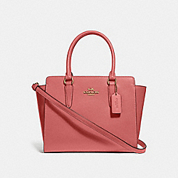 LEAH SATCHEL - F30555 - ROSE PETAL/IMITATION GOLD