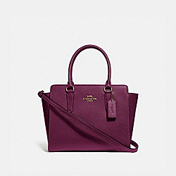 COACH F30555 Leah Satchel IM/DARK BERRY