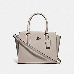 LEAH SATCHEL - F30555 - GREY BIRCH/SILVER
