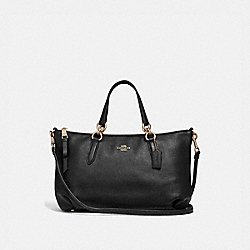 COACH F30565 Ally Satchel BLACK/LIGHT GOLD