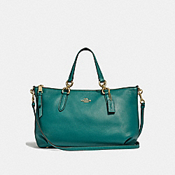 COACH F30565 Ally Satchel DARK TURQUOISE/LIGHT GOLD