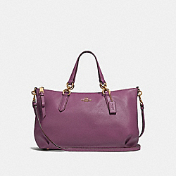 ALLY SATCHEL - F30565 - PRIMROSE/LIGHT GOLD