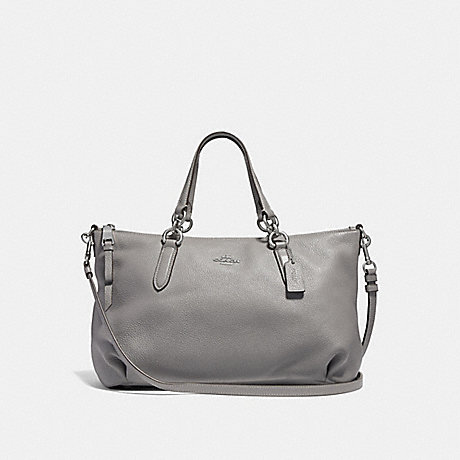 COACH F30565 ALLY SATCHEL HEATHER-GREY/SILVER
