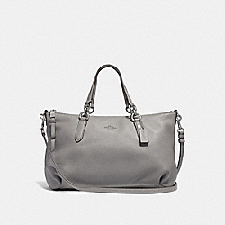 COACH F30565 - ALLY SATCHEL HEATHER GREY/SILVER