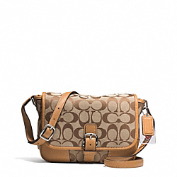 COACH F30601 Hadley Signature Field Bag SILVER/KHAKI/NATURAL