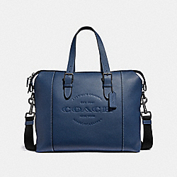 COACH F30620 - HUDSON BRIEF MIDNIGHT NAVY/BLACK ANTIQUE NICKEL