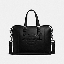 COACH F30620 Hudson Brief ANTIQUE NICKEL/BLACK