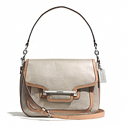 COACH F30621 Taylor Foiled Flap Shoulder Bag