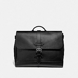 HUDSON SMALL MESSENGER - F30623 - BLACK/BLACK ANTIQUE NICKEL