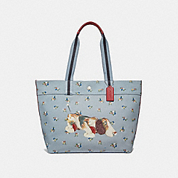 COACH F30631 Fisher-price Dog Tote PALE BLUE MULTI/SILVER