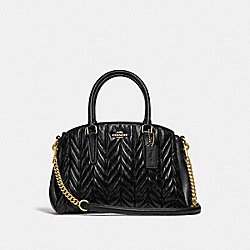 COACH F30650 Mini Sage Carryall With Quilting BLACK/LIGHT GOLD