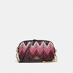 COACH F30652 Isla Chain Crossbody With Ombre Quilting OXBLOOD MULTI/LIGHT GOLD